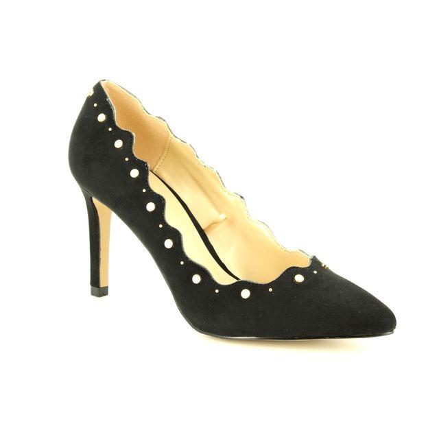 Lotus High-heeled Shoes - Black - ULS010/30 POPPLE