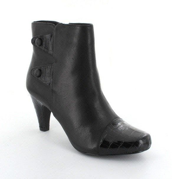 Lotus Ankle Boots - Black croc - 4012/83 ROBIN