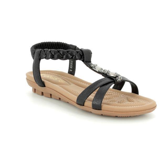 Lotus Sandals - Black - 20411/30 ROVERTO