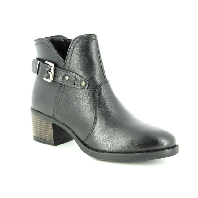 Lotus Ankle Boots - Black leather - ULB015/30 TAPTI