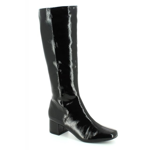 Lotus Knee-high Boots - Black patent - VEZALLI 40414/40