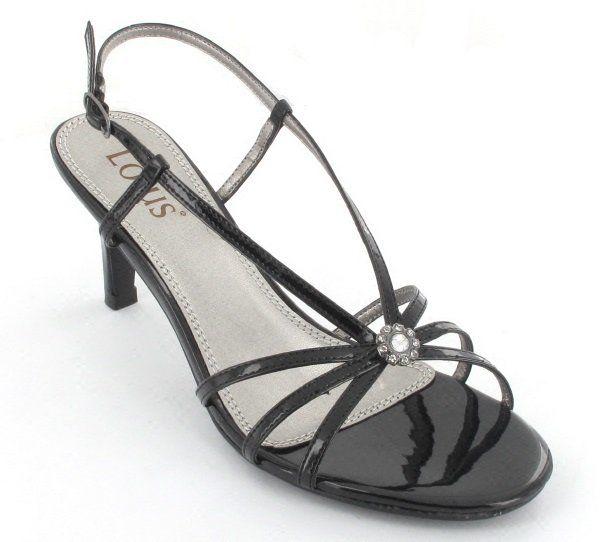 Lotus Viviana Black patent high-heeled shoes