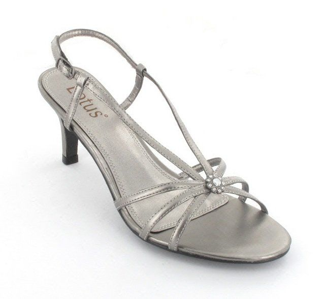 Lotus Viviana Pewter high-heeled shoes