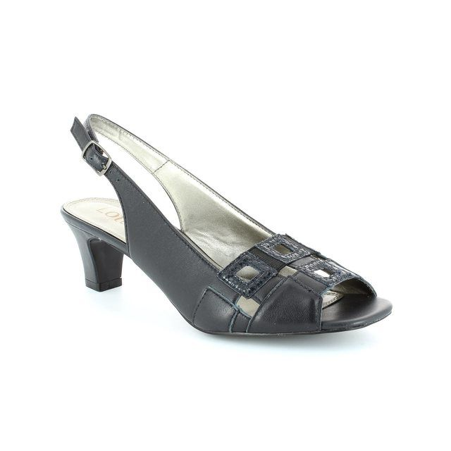 Lotus Zabry Navy heeled shoes