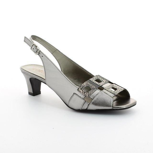Lotus Zabry Pewter heeled shoes