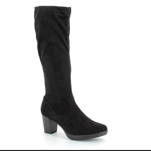 Marco Tozzi Acelong 25513-001 Black suede knee-high boots