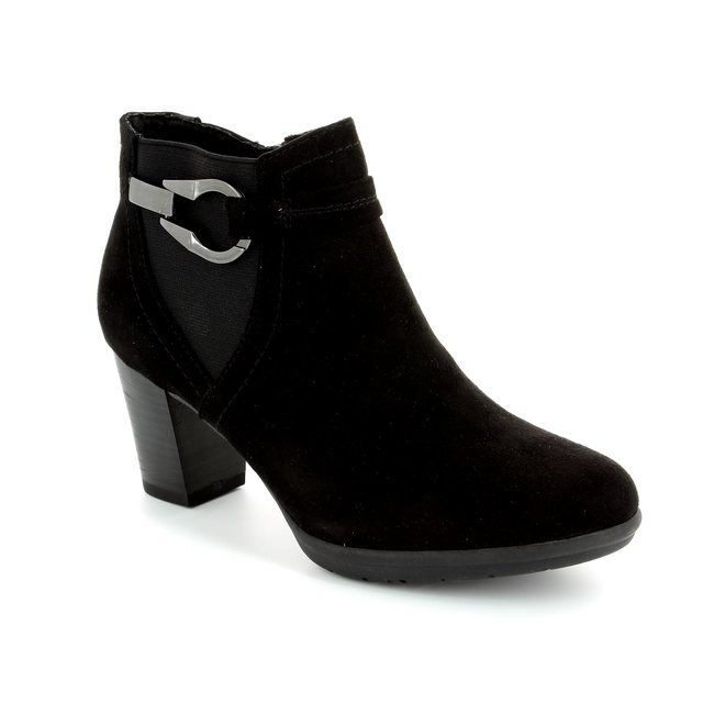 Marco Tozzi Aceri 25340-001 Black suede ankle boots