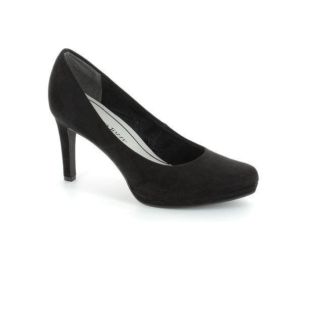 Marco Tozzi Agaroco 22414-001 Black suede high-heeled s