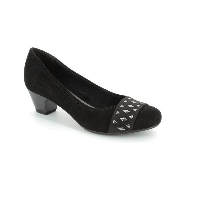 Marco Tozzi Heeled Shoes - Black suede - 22301/001 ASTRATA