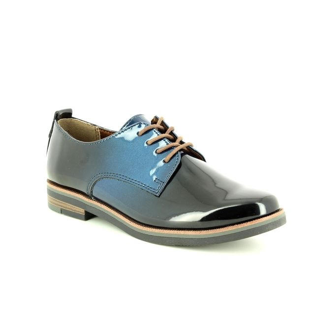 Marco Tozzi Brogues - Black Navy Patent - 23200/21/858 BACONE