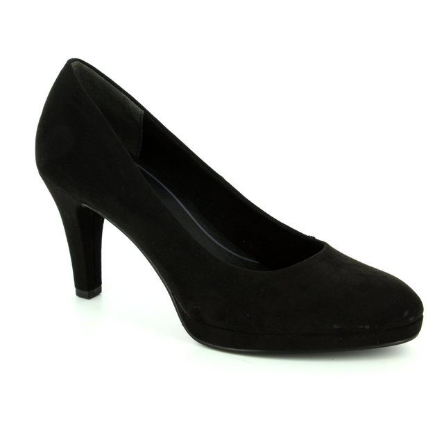Marco Tozzi High-heeled Shoes - Black suede - 22428/001 BINO