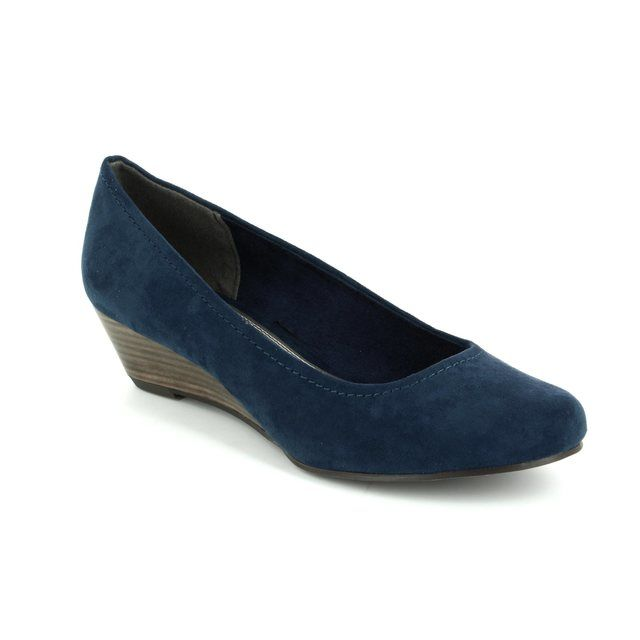 Marco Tozzi Wedge Shoes - Navy - 22302/805 BIWAQ