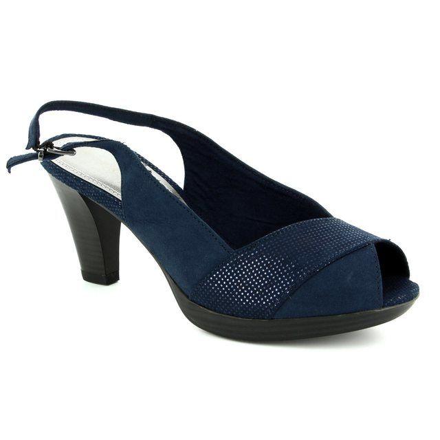 Marco Tozzi High-heeled Shoes - Navy multi - 29607/890 BOITO