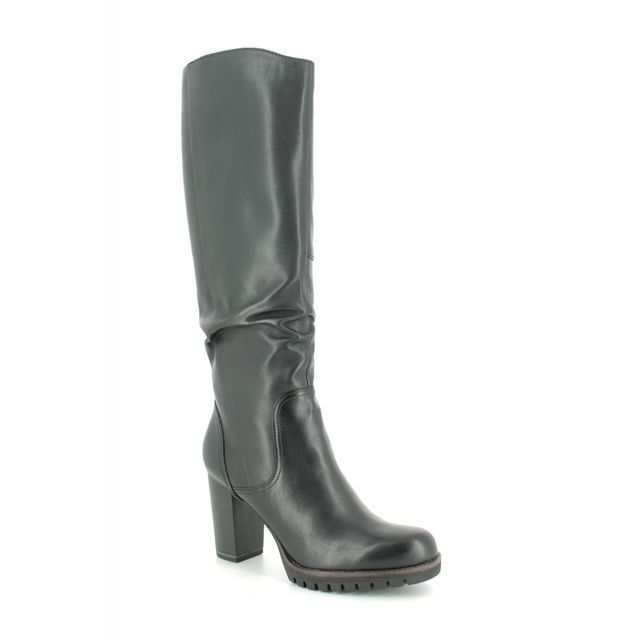 Marco Tozzi Knee-high Boots - Black leather - 25631/23/002 BULLALONG