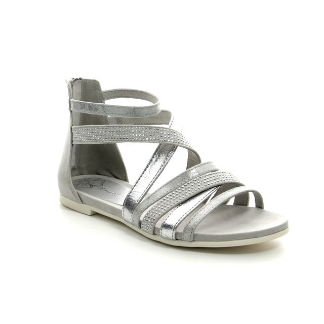 Marco Tozzi Caloater 28116-22-248 Silver Gladiator Sandals