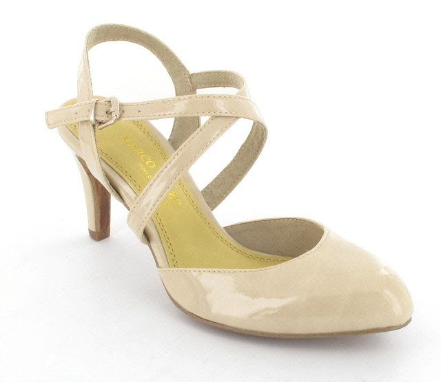 Marco Tozzi Celesia 29602-403 Nude Patent high-heeled shoes