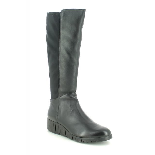 Marco Tozzi Knee-high Boots - Black leather - 25614/25/096 CERASO LONG