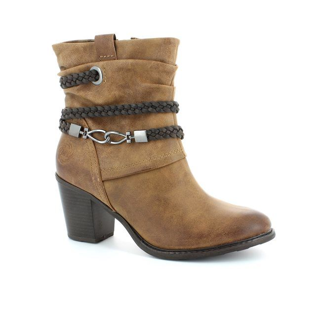 Marco Tozzi Denver 25344-340 Tan multi ankle boots