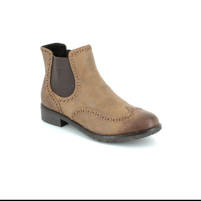 Marco Tozzi Drapbro 25318-340 Tan ankle boots