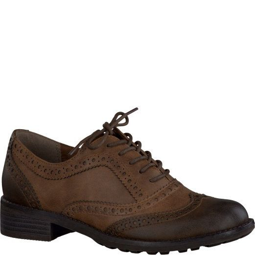 Marco Tozzi Drapel 23302-372 Brown multi lacing shoes