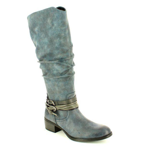 Marco Tozzi Drema 25531-820 Navy knee-high boots
