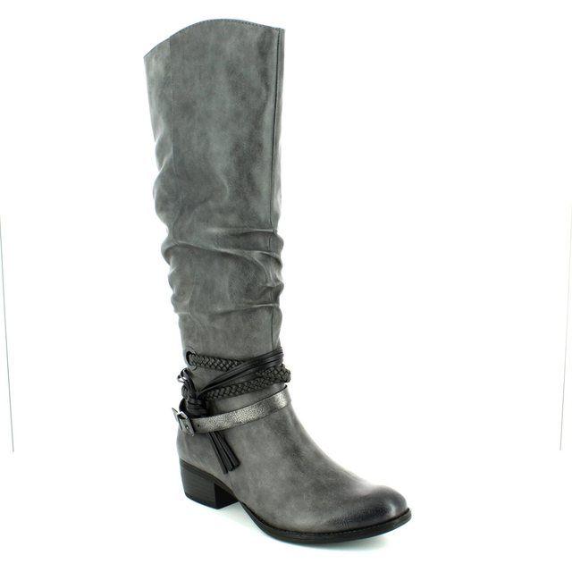 Marco Tozzi Knee-high Boots - Dark grey multi - 25507/226 DREMA 72