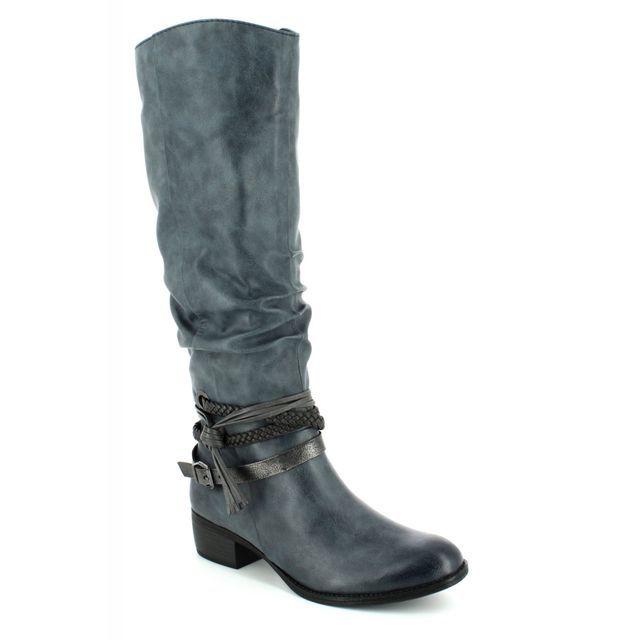 Marco Tozzi Knee-high Boots - Navy multi - 25507/820 DREMA 72
