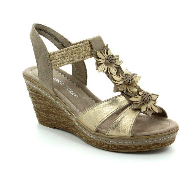 Marco Tozzi Wedge Sandals - Taupe multi - 28302/344 FRETO