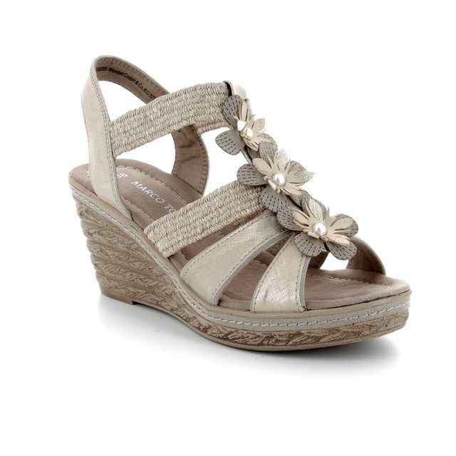 Marco Tozzi Wedge Sandals - Taupe multi - 28302/20/344 FRETO 81