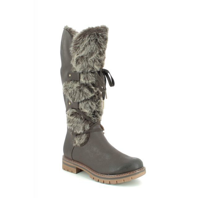 Marco Tozzi Knee-high Boots - Brown - 26635/23/325 GRANDE FUR 95
