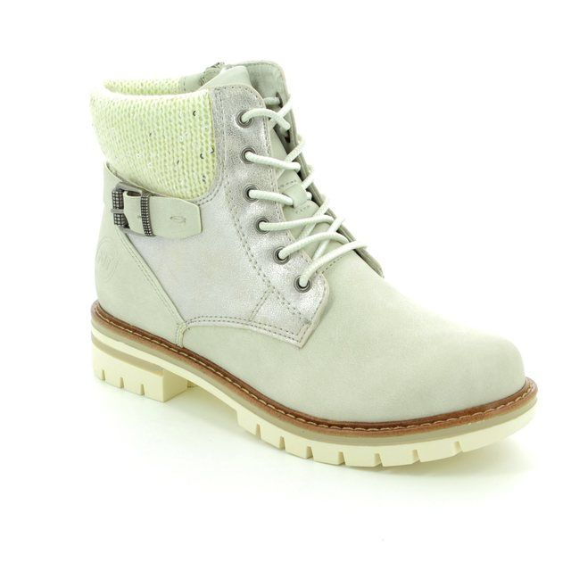 Marco Tozzi Grande Ice 26242-119 Off white ankle boots