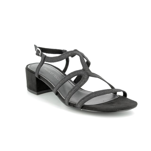 Marco Tozzi Heeled Sandals - Black gold - 28201/20/098 HECHO SPARKLE
