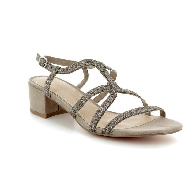 Marco Tozzi Heeled Sandals - Taupe - 28201/20/344 HECHO SPARKLE