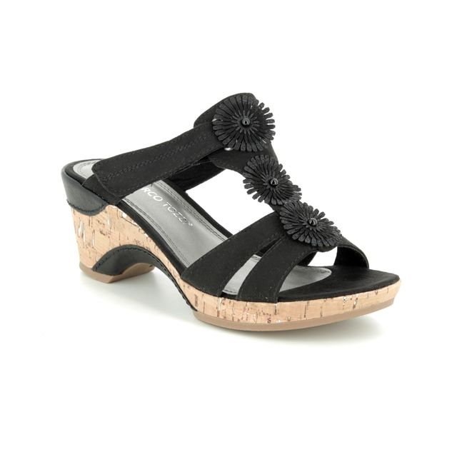 Marco Tozzi Lozim 91 27213-22-098 Black Wedge Sandals