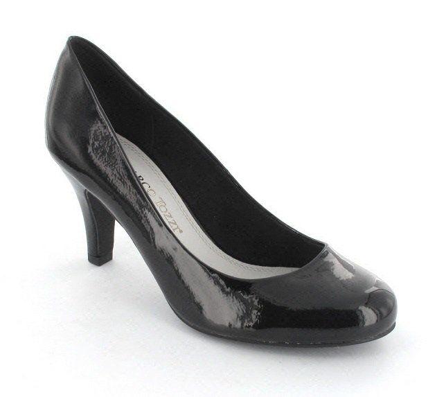 Marco Tozzi Marano 22429-001 Black patent high-heeled shoes