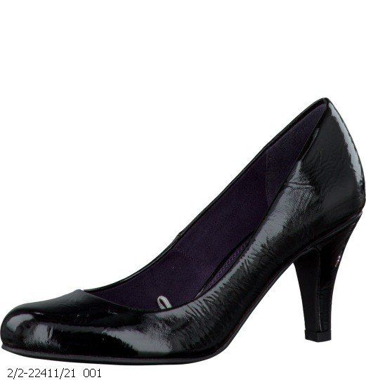 Marco Tozzi Operate 22411-001 Black patent high-heeled shoes