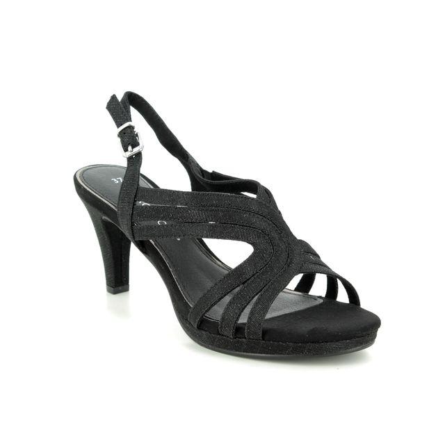 Marco Tozzi Heeled Sandals - Black Glitz - 28329/34/033 PADUCA 01