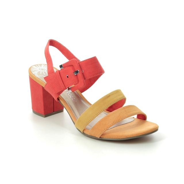 Marco Tozzi Heeled Sandals - Orange multi - 28323/24/671 PADUCKLE
