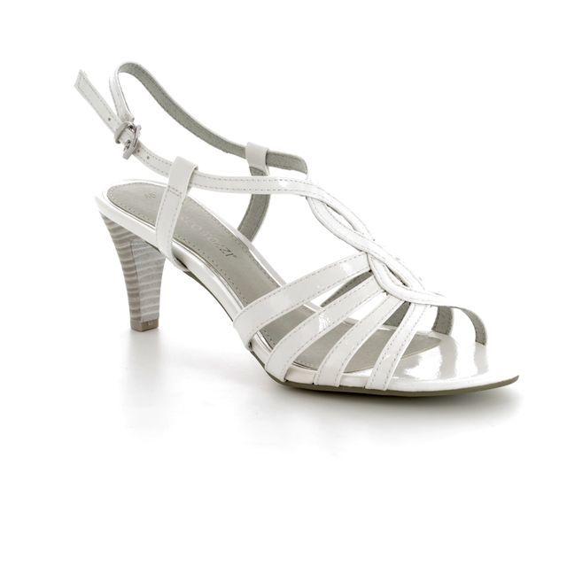 Marco Tozzi Heeled Sandals - White patent - 28321/20/123 PADULI