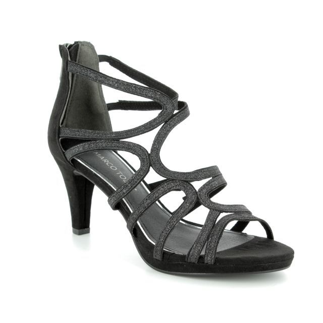 Marco Tozzi Heeled Sandals - Black - 28373/20/098 PADULIA