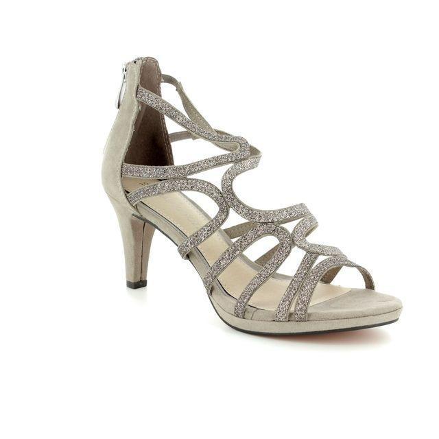 Marco Tozzi Heeled Sandals - Taupe - 28373/20/344 PADULIA
