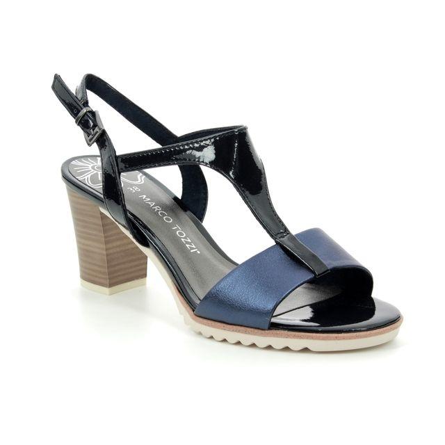 Marco Tozzi Paduya 91 28732-22-890 Navy multi Heeled Sandals