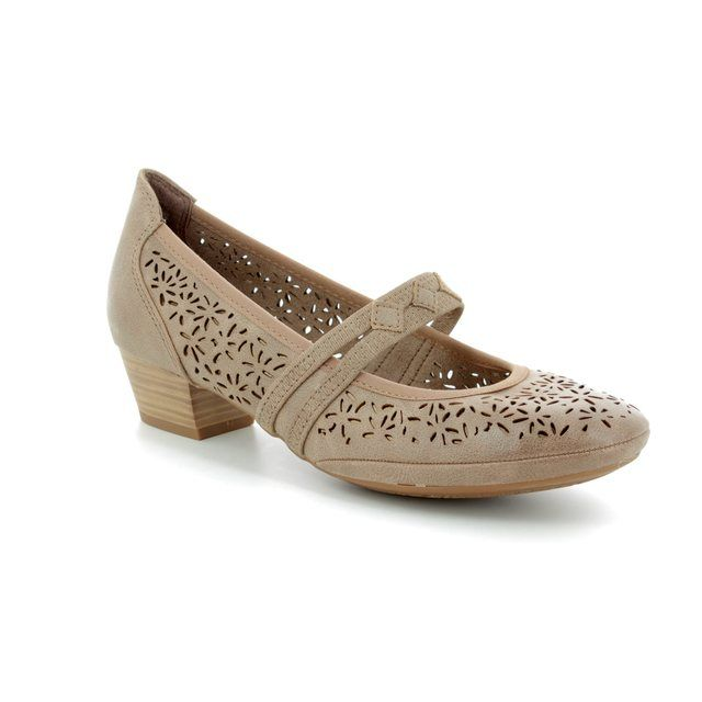Marco Tozzi Mary Jane Shoes - Taupe - 24503/20/341 PAVOBAR 81