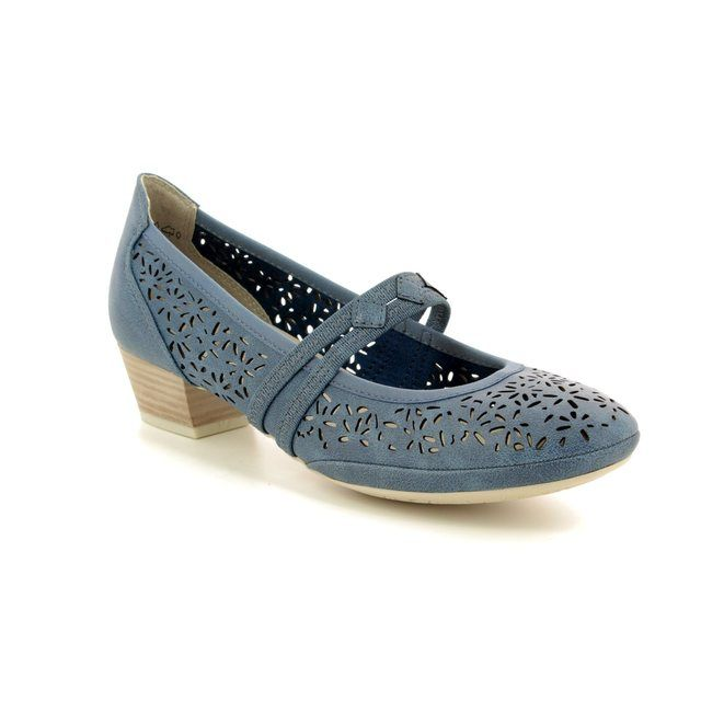 Marco Tozzi Mary Jane Shoes - Navy - 24503/20/822 PAVOBAR 81