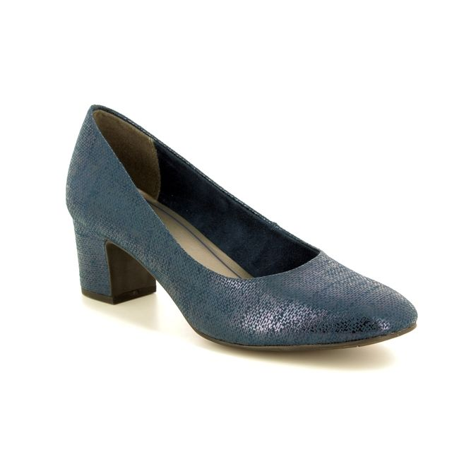 Marco Tozzi Heeled Shoes - Navy Glitz - 22426/99/824 PERI 81