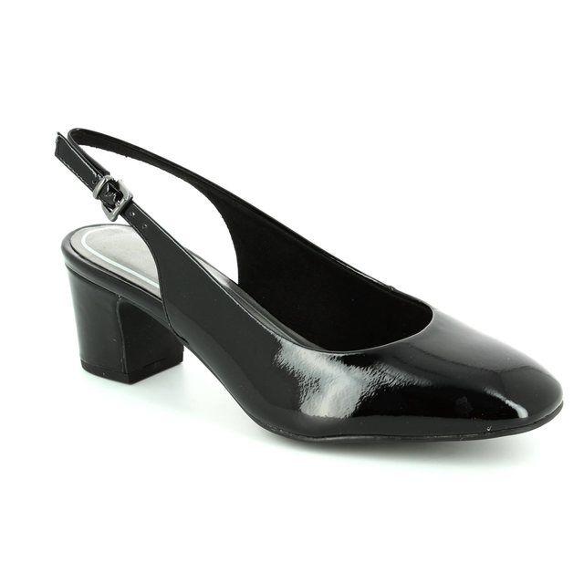 Marco Tozzi Heeled Shoes - Black patent - 29600/001 PERISLING