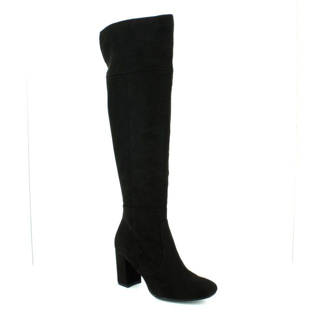 Marco Tozzi Knee-high Boots - Black suede - 25512/001 PITA