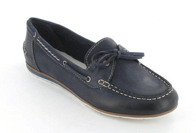 Marco Tozzi Premio 24607-892 Navy lacing shoes