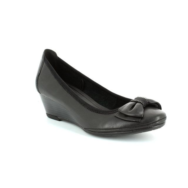 Marco Tozzi Wedge Shoes - Black - 22308/002 RANCA