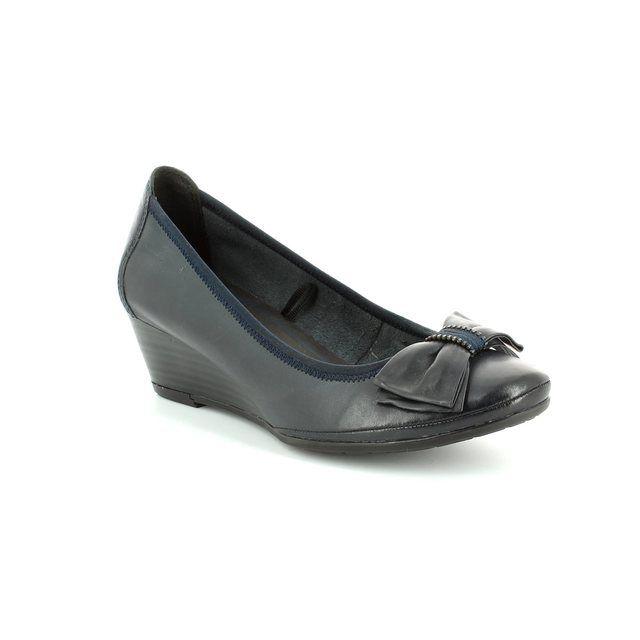 Marco Tozzi Ranca 22308-892 Navy heeled shoes